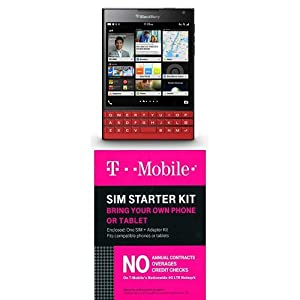 BlackBerry Passport (Red) with T-Mobile Sim