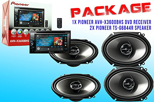 Package ! Pioneer Avh-X3600Bhs Dvd Receiver + Two Set Pioneer Ts-G6844R Car Speakers - 4 Speakers