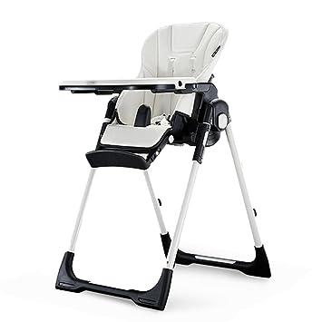 Multifuncional bebé comedor silla portátil plegable bebé asiento niños comen comedor mesa silla silla ( Color : Blanco )