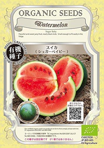 グリーンフィールド 野菜有機種子 スイカ <シュガーベイビー> [小袋] A238