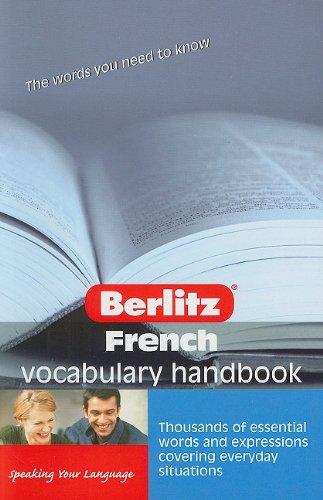 French Vocabulary Handbook (Handbooks) (English And French Edition)
