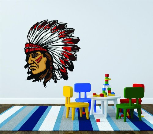 Stunning BEDROOM DECOR Native American Indian Head Face Picture Art Graphic Design Image Bedroom Living Room Home