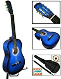 New Blue Acoustic Guitar W/ Accessories Combo Kit Beginners