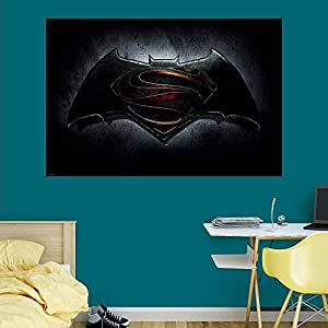 Fathead Batman vs. Superman Logo Wall Mural at Gotham City Store
