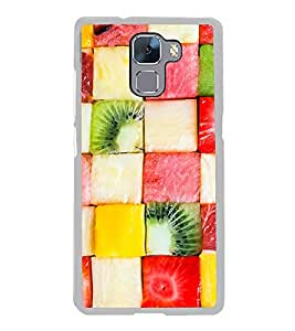 Fruit Cubes 2D Hard Polycarbonate Designer Back Case Cover for Huawei Honor 7 :: Huawei Honor 7 Enhanced Edition :: Huawei Honor 7 Dual SIM