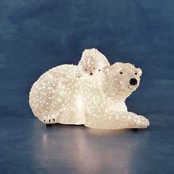 Stehle Filmscheinwerfer konstsmide 4311 200 led fiberoptik polarbären 12v innentrafo bunt