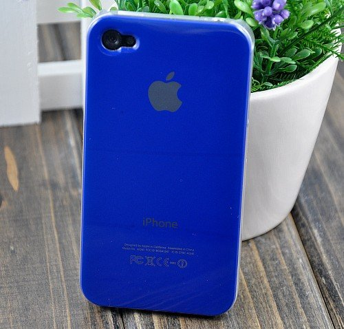 Dark Blue Replicase Hard Air Crystal Jacket Luminosity Case for iPhone 4 (Works with Verizon iPhone)