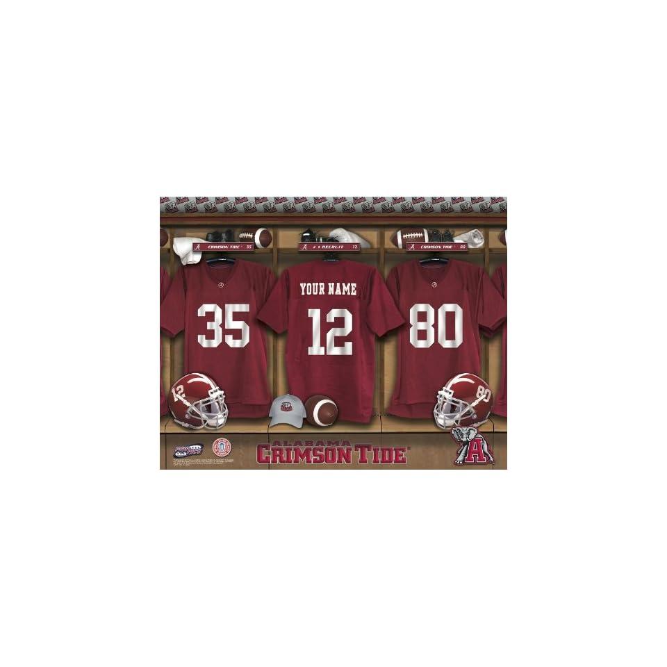 Personalized Alabama Crimson Tide Football Locker Room Print
