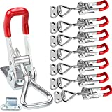 8Pack Pull Latch Clamp, Heavy Duty Toggle Clamp Latch 360lbs Capacity, Adjustable Toggle Clamp Quick Release Draw Latch for Door, Box Case, Cabinet Lid, Jig, Latch Hook Toggle Clamp for Smoker