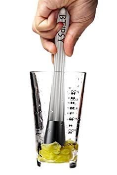 Btipsy Professional Cocktail Muddler Bar Tool - Premium Quality Stainless Steel Drink Muddler of 304 Grade