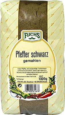FUCHS Pfeffer schwarz gemahlen, 2er Pack (2 x 1 kg) von FUCHS - Gewürze Shop
