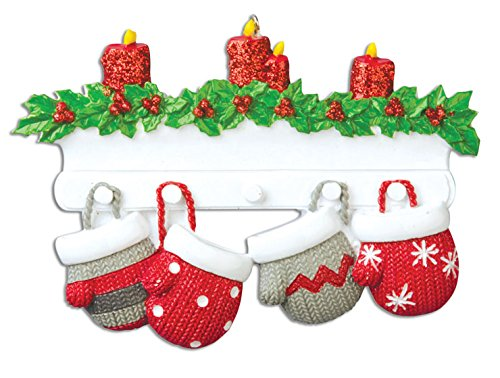 personalized-christmas-ornaments-family-series-mitten-family-of-4