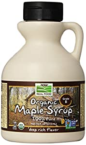 NOW Foods Organic Maple Syrup B Grade,  16 Ounce Bottle