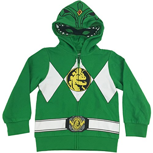 The Power Rangers Little Boys I Am Costume Zip Hoodie Green 6 (Power Rangers Green Tshirt compare prices)