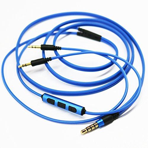 Future Win blu/nero-Cavo di ricambio per telecomando volume & microfono per Sol Republic Master V8 Tracks HD X3 V12-V10-Auricolari per apple iphone, iPod Touch, ipad, Android, Samsung e altri blu