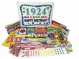 1924 92nd Birthday Gift Basket Box Retro Nostalgic Candy From Childhood