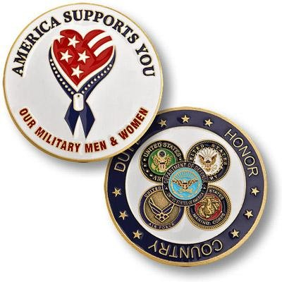 U.S. Military America Supports our Troops Coin