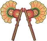Omshivakriti Paper Mache Pankhi - (21.59 cm x 12.7 cm x 2.54 cm)
