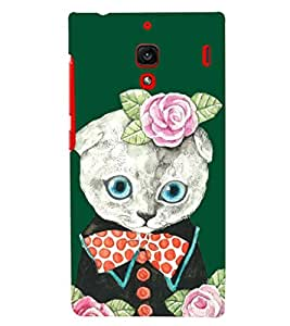 PRINTSHOPPII KITTY WITH FLOWER Back Case Cover for Xiaomi Redmi 1S::Xiaomi Redmi (1st Gen)