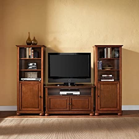 Crosley Alexandria 42 in. TV Stand and Two 60 in. Media Piers