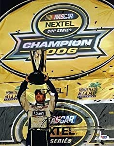 Autographed Jimmie Johnson Photograph - 11x14 #v86045 - PSA DNA Certified -... by Sports Memorabilia