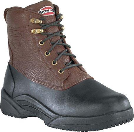 Iron Age IA965 Black/Brown Waterproof Leather Shaft Boot Steel Toe Women's