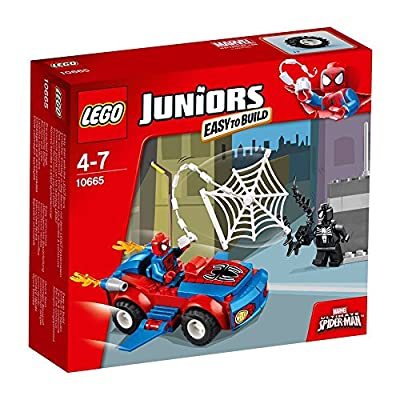 2x LEGO Juniors 10665: Spider-Man Spider-Car Pursuit