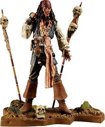Buy Low Price NECA Pirates of the Caribbean Dead Man's Chest Series 3 Cannibal Jack Sparrow Figure (B000NGR59A)