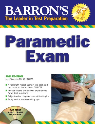 Barron'S Paramedic Exam: With Cd-Rom (Barron'S How To Prepare For The Emt Paramedic Exam) front-27362