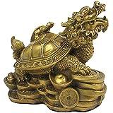R-STYLE 風水アイテム 龍亀(ロングイ) 最も金運に対して強力な風水グッズです 黄銅製