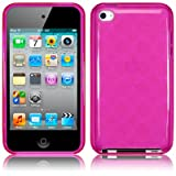 Pink TPU Gel Case Cover for iPod Touch 4 PART OF THE QUBITS ACCESSORIES RANGEby TERRAPIN