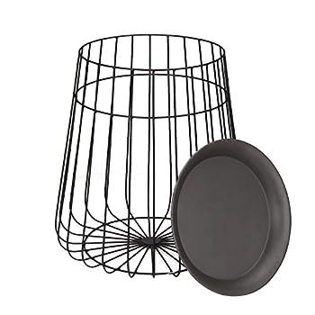 ELEGAN Modern Round Metal Side End Table, Set of 2