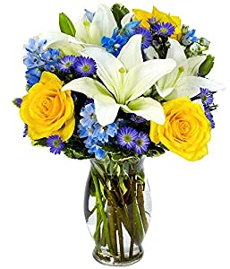 Flowers - The Bright Blue Sky Bouquet