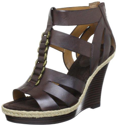 Clarks Silky Smooth Durchgängies Plateau Womens Brown Braun (Dark Brown Lea) Size: 4.5 (37.5 EU)