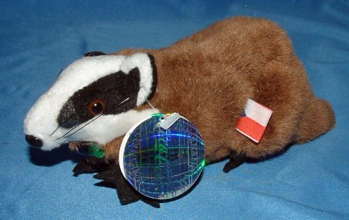 Coca-Cola Bean Bag Plush Badgey the Badger representing Czech Republic
