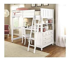 Amazon Com Twin Loft Bed With Desk Furniture Amp Decor