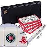 Chinese Mahjong White Tile Travel Set