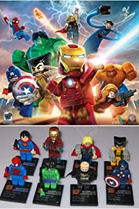 8pcs Super Heroes the Special Avengers Captain America Iron Spider Man Hulk Batman Wolverine Thor Building Blocks Sets Bricks Toy