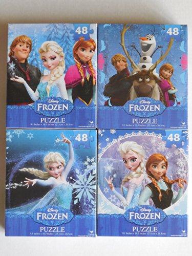 Disney Frozen 48 Piece Jigsaw Puzzles Princess Elsa Anna Kristoff Olaf - 1
