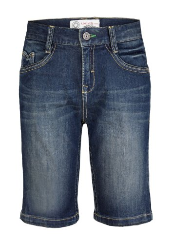 s.Oliver Jungen Capri Jeans 61.405.72.2313, Einfarbig, Gr. 176 (Herstellergröße: 176/REG), Blau (blue denim stretch)