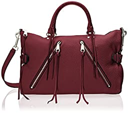 Rebecca Minkoff Large Moto Satchel Tote Shoulder Bag, Port, One Size