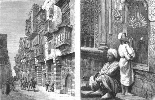 Egypt: A Street In Cairo-Old Style; Drinking At A Fountain, Cairo, Print, 1880