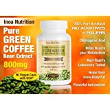 100% Pure Green Coffee Bean Extract 800mg Per Capsule, 60 Capsules Per Bottle