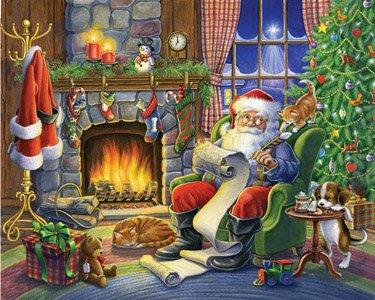 Naughty or Nice Jigsaw Puzzle 1000 Piece - Santa Claus checks the List
