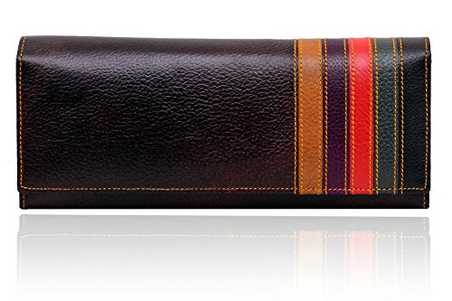 Yark-Genuine-Leather-Ladies-Wallet-Brown