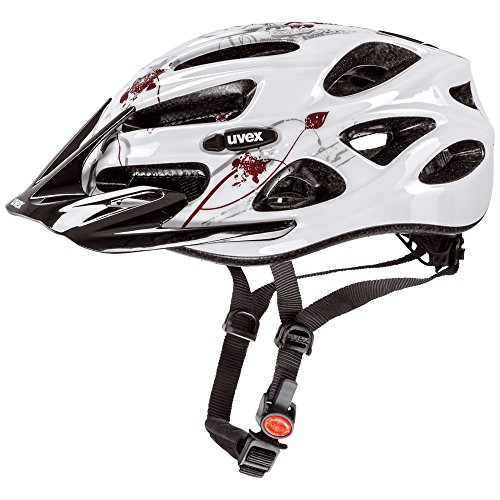 UVEX, Casco da ciclismo Donna, Bianco (White Butterfly Bordeaux), 52 - 57 cm
