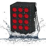 EC Technology® Cube Enceinte Bluetooth Etanche à l'Eau Microphone Intégré Haut-parleurs Sans Fil Portable Rechargable 6-8 Heures d'Autonomie - Noir