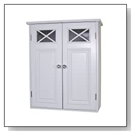 white Shelved Wall Cabinet