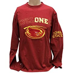 NCAA Iowa State Cyclones Mens Long Sleeve T-Shirt, Small, Cardinal Gold by Donegal Bay