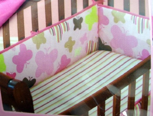 Itty Bitty Butterflies Crib Bumper Coordinates with 3 Piece Nursery Set